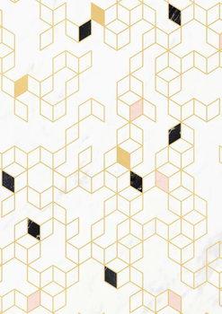 Papel de parede Keziah Gold and Marble