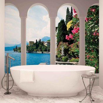 Papel de parede Lake Como Italy Arches