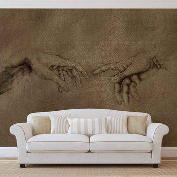 Papel de parede Michaelangelo Creation of Adam