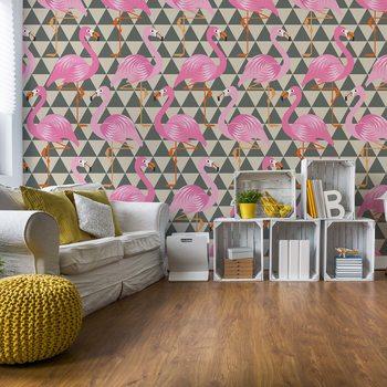 Papel de parede Modern Flamingo Pattern
