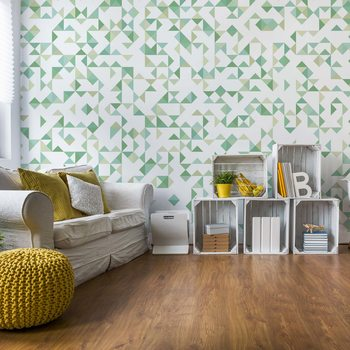 Papel de parede  Modern Geometric Pattern Green
