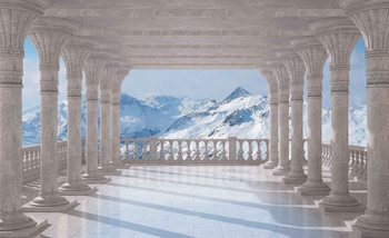 Papel de parede Mountain Scene Through The Arches