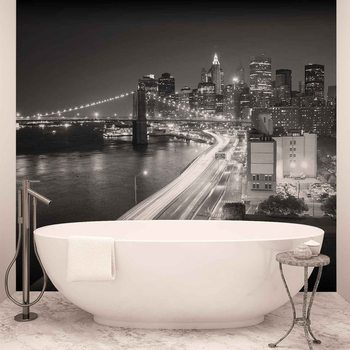 Papel de parede  New York City Brooklyn Bridge Lights