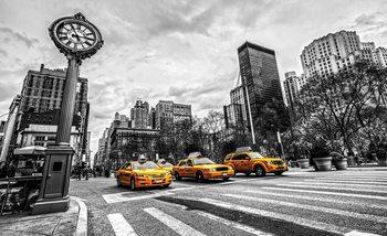 Papel de parede New York City Cabs 312x219 cm - 130g/m2 Vlies Non-Woven
