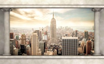 Papel de parede  New York City View Pillars