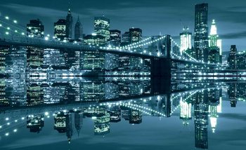 Papel de parede New York  Skyline Brooklyn Bridge