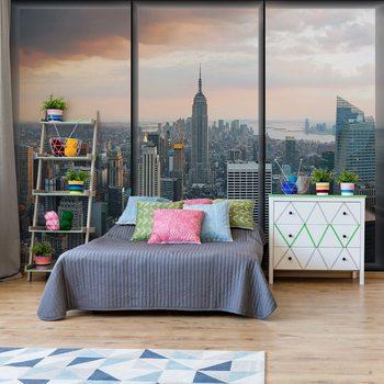 Papel de parede  New York Skyline Window View