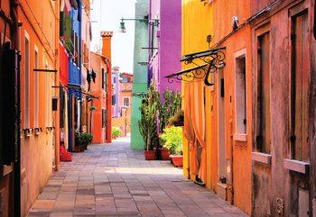 Papel de parede Old Colourful Street