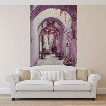 Papel de parede  Passage Flowers Pink