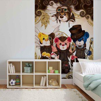 Papel de parede Rainbow Bears Care Bears