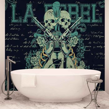 Papel de parede Rock Guitar Skull Guns