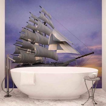 Papel de parede  Sailing Ship Sunset