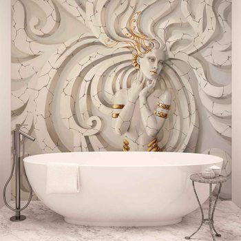 Papel de parede  Sculpture Yoga Woman Swirls Medussa