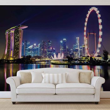 Papel de parede  Singapore City Skyline