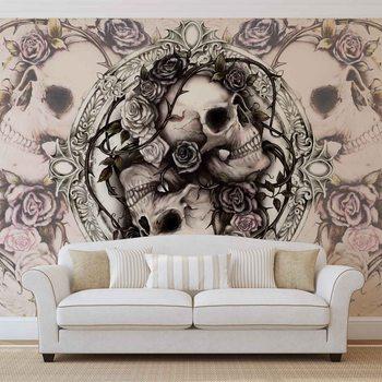 Papel de parede Skull Alchemy Roses