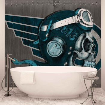 Papel de parede  Skull Flying Tattoo