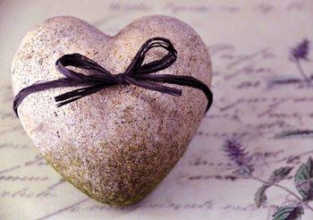 Papel de parede Stone Heart Flower Tie