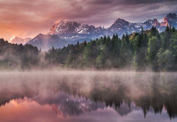 Papel de parede Sunrise At The Lake