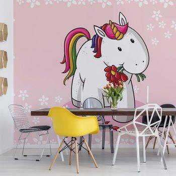 Papel de parede Sweet Unicorn Pink