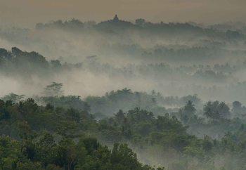 Papel de parede Temple In The Mist