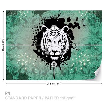 Papel de parede  Tiger Abstract