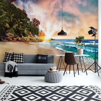 Papel de parede  Tropical Beach Sunset