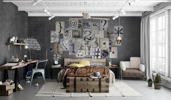 Decoração de parede Typography