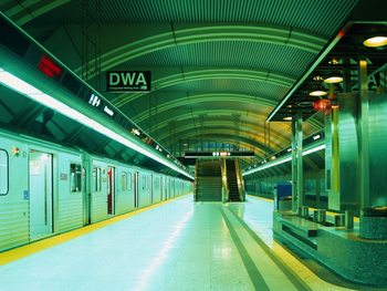 Decoração de parede Underground Subway