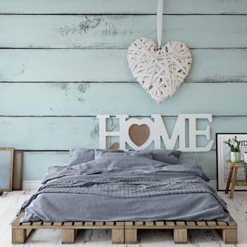 Papel de parede Vintage Chic Home Painted Wooden Planks Texture Light Blue