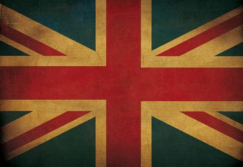 Papel de parede Vintage Flag Uk Union Jack