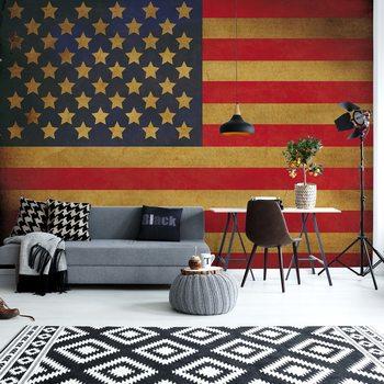 Papel de parede Vintage Flag Usa America