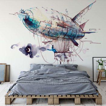 Papel de parede  Watercolour Airship