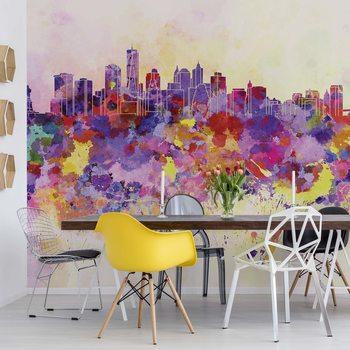 Papel de parede Watercolour City Skyline