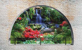 Papel de parede  Waterfall Lake Arch View