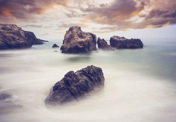 Papel de parede Waves And Rocks