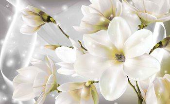 Papel de parede White Flowers