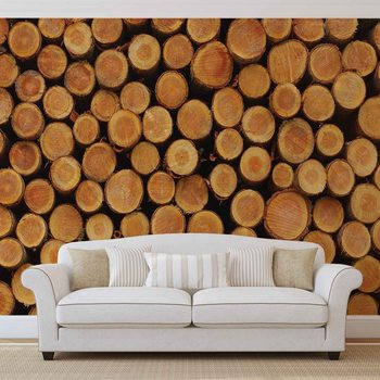 Papel de parede  Wood Texture Logs Nature