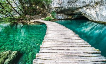 Papel de parede  Wooden Bridge in Lagoon