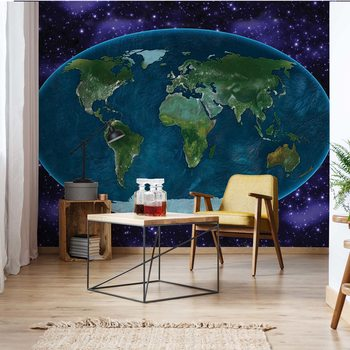 Papel de parede World Map Atlas