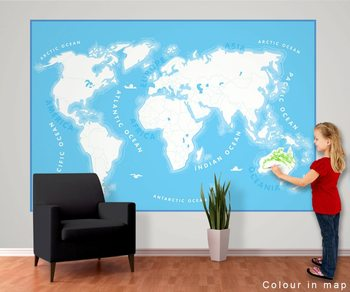 Papel de parede  World Map for Kids