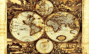 Papel de parede World Map Vintage