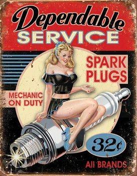 Dependable Service Plaque métal décorée