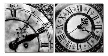 Designer clocks (B&W) Tableau Multi-Toiles