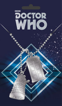 Dog tag Doctor Who - Tardis and Dalek