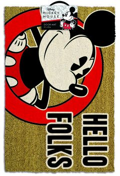Doormat Mickey Mouse - Hello Folks