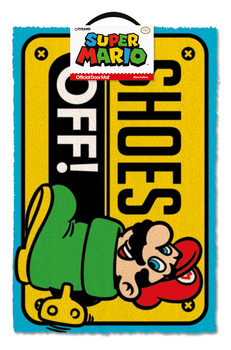 Doormat Super Mario - Shoes Off Colour
