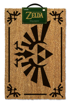 Doormat The Legend Of Zelda - Triforce Black