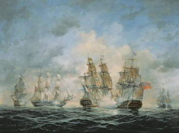 19th Century Naval Engagement in Home Waters Taidejuliste