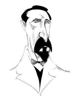 Alexander Borodin, Russian composer  , b/w caricature, 2010 by Neale Osborne Taidejuliste