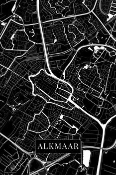 Kartta Alkmaar black